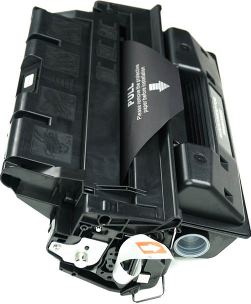 This is the front view of the Hewlett Packard 61X black replacement laserjet toner cartridge by NXT Premium toner