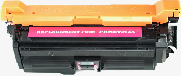 This is the front view of the Hewlett Packard 648A magenta replacement laserjet toner cartridge by NXT Premium toner