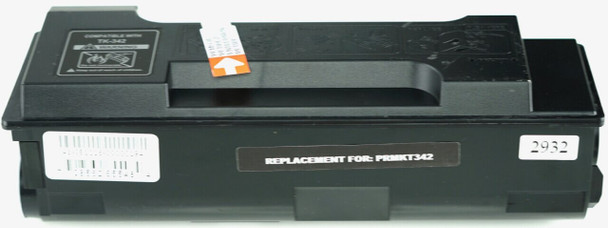 This is the front view of the Kyocera-Mita TK342 black replacement laserjet toner cartridge by NXT Premium toner