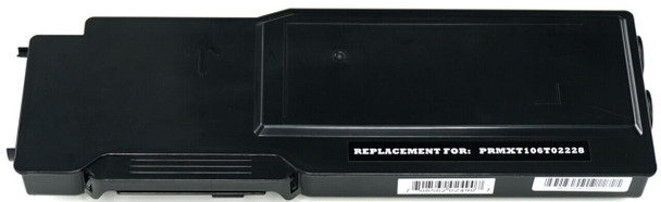 This is the front view of the Xerox 106R02228 black replacement laserjet toner cartridge by NXT Premium toner