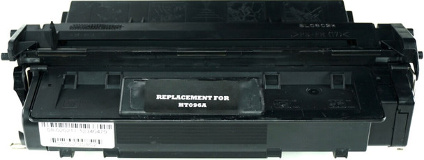 This is the front view of the Hewlett Packard 96A black replacement laserjet toner cartridge by NXT Premium toner