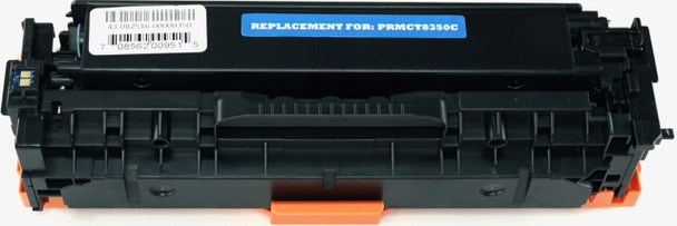 This is the front view of the Canon 118 cyan replacement laserjet toner cartridge by NXT Premium toner
