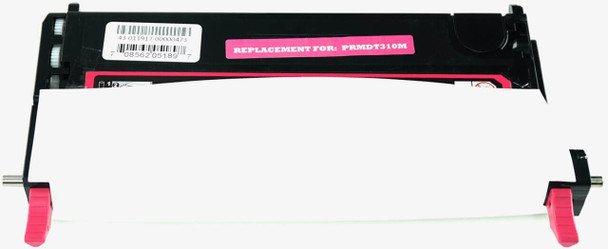 This is the front view of the Dell RF013 magenta replacement laserjet toner cartridge by NXT Premium toner