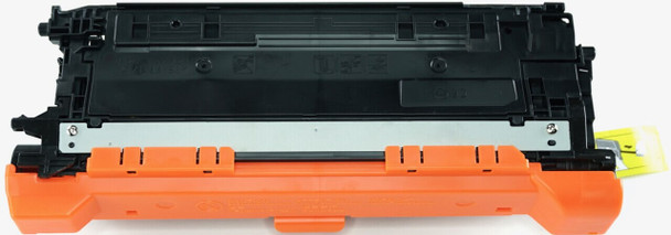This is the front view of the Hewlett Packard 654X black replacement laserjet toner cartridge by NXT Premium toner