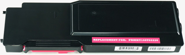 This is the front view of the Xerox 106R02226 magenta replacement laserjet toner cartridge by NXT Premium toner