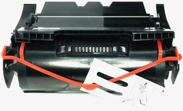 This is the front view of the Dell 341-2938 black replacement laserjet toner cartridge by NXT Premium toner