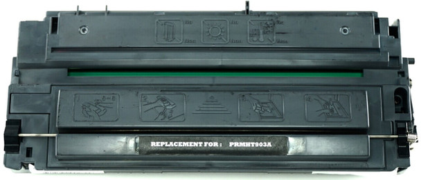 This is the front view of the Hewlett Packard 03A black replacement laserjet toner cartridge by NXT Premium toner