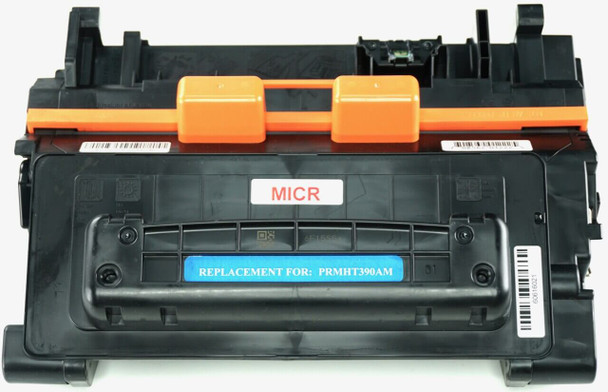 This is the front view of the Hewlett Packard 90A MICR replacement laserjet toner cartridge by NXT Premium toner
