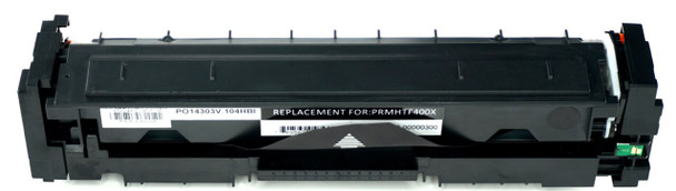 This is the front view of the Hewlett Packard 201X black replacement laserjet toner cartridge by NXT Premium toner