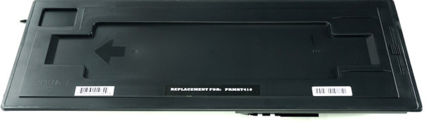 This is the front view of the Kyocera-Mita TK411 black replacement laserjet toner cartridge by NXT Premium toner