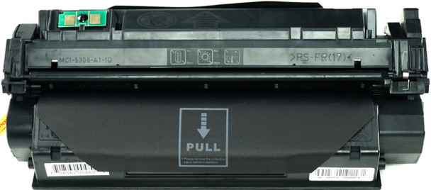 This is the front view of the Hewlett Packard 13A black replacement laserjet toner cartridge by NXT Premium toner