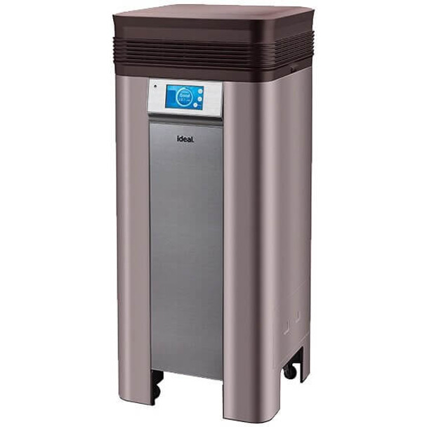 This is a picture of the MBM Ideal AP100 professional air cleaner for hygienically pure air – in rooms of a size up to 1000 square feet.* High-performance filter system, LCD touch screen, WLAN connection and the corresponding app complete this machine making it the perfect source for clean air.