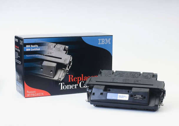 IBM Compatible HP 27X / C4127X Laserjet Toner Cartridge Replacement for HP 27X, C4127X, HP 27A, C4127A Black, High Yield, Used in Hewlett-Packard 4000, 4000N, 4000SE, 4000T, 4000TN, 4050, 4050N, 4050SE, 4050T, 4050TN Printer  (75P5155)