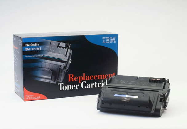 IBM Compatible HP 38A / Q1338A Laserjet Toner Cartridge Replacement for HP 38A, Q1338A, Black, Used in Hewlett-Packard 4200, 4200N, 4200TN, 4200DTN, 4200DTNS, 4200DTNSL Printer