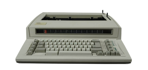 "Front View of the IBM Lexmark Personal Wheelwriter 2 Factory Certified ""New"" Electric Typewriter"