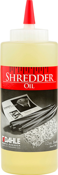 Dahle 20721 Shredder Oil, (6) 12 Ounce Bottles