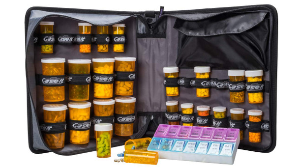 """Med Manager XL Insulated Medication Binder/ Portable Pill Organizer (13"""" x 13"""" x 4.5"""")"""