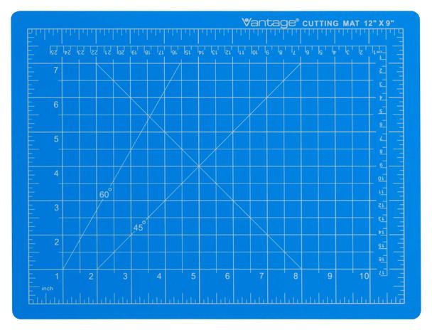 """Vantage® 9"""" x 12"""" Self-Healing Cutting Mat (Blue)"""