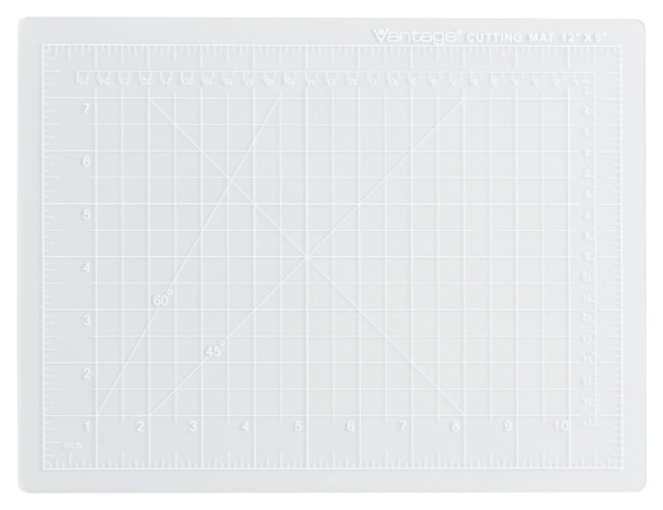 "Vantage® 9"" x 12"" Self-Healing Cutting Mat (Clear)"