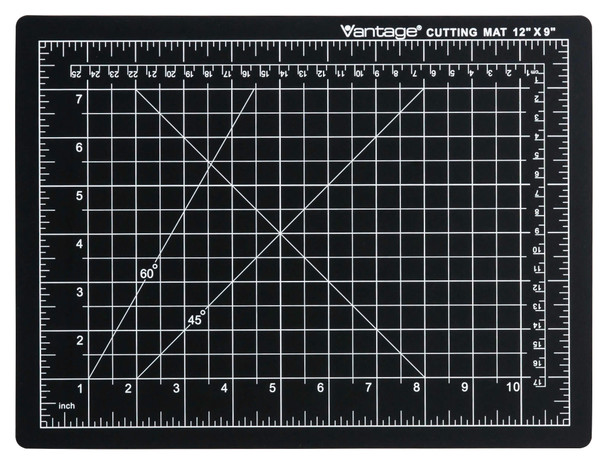 "Vantage® 9"" x 12"" Self-Healing Cutting Mat (Black)"