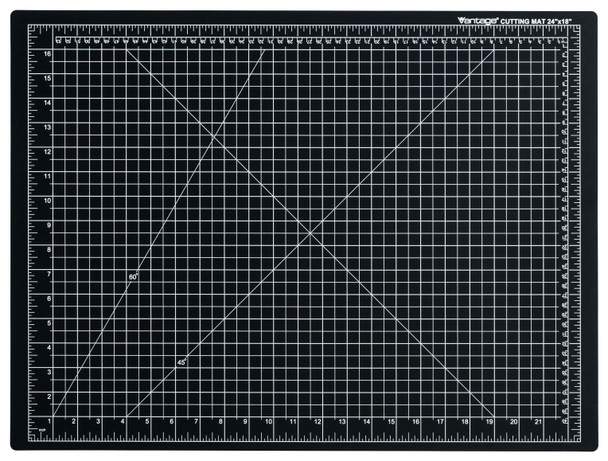 "Vantage® 18"" x 24"" Self-Healing Cutting Mat (Black)"