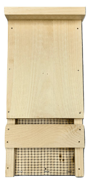 Wakefield Premium Bat Houses - Mini Bat Box Shelter with Echo-Location Slot - Up to 12 Bats