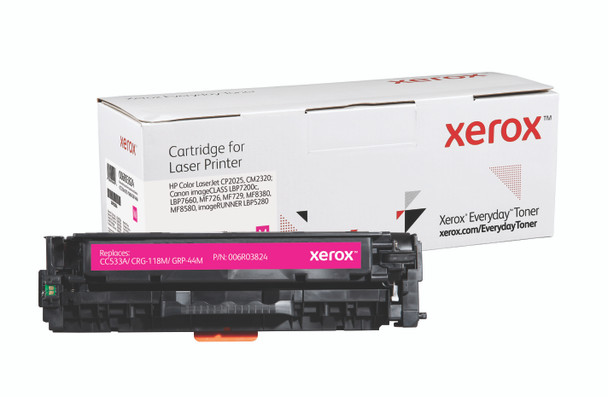 Magenta Standard Yield Everyday Toner from Xerox, replacement for HP CC533A, Canon CRG-118M, GRP-44M Yields 2,800 pages