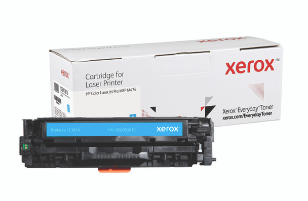 Cyan Standard Yield Everyday Toner from Xerox, replacement for HP CF381A