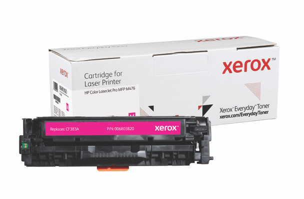 Magenta Standard Yield Everyday Toner from Xerox, replacement for HP CF383A Yields 2,700 pages