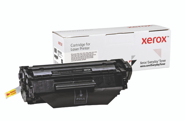 Black Standard Yield Everyday Toner from Xerox, replacement for HP Q2612A, Canon CRG-104, FX-9, CRG-103 Yields 2,000 pages