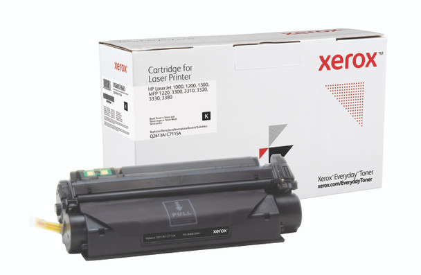 Black Standard Yield Everyday Toner from Xerox, replacement for HP Q2613A, C7115A