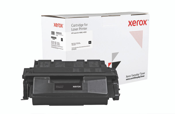 Black High Yield Everyday Toner from Xerox, replacement for HP C4127X Yields 10,000 pages