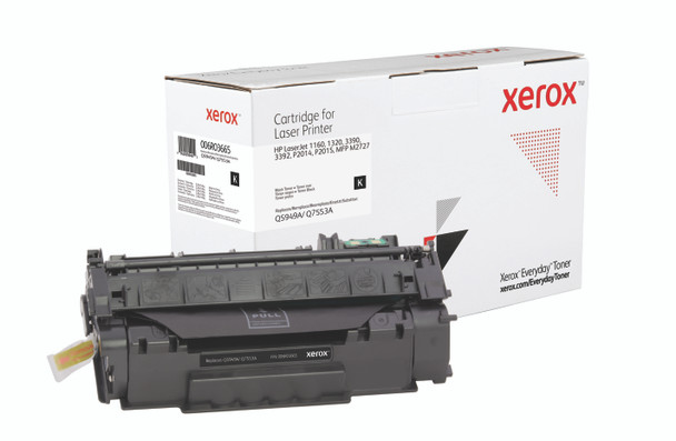 Black Standard Yield Everyday Toner from Xerox, replacement for HP Q5949A, Q7553A Yields 3,000 pages