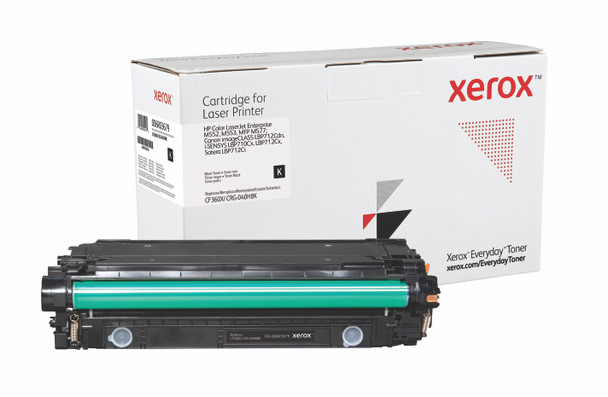 Black High Yield Everyday Toner from Xerox, replacement for HP CF360X, Canon CRG-040HBK Yields 12,500 pages