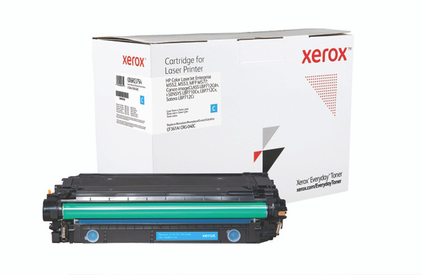 Cyan Standard Yield Everyday Toner from Xerox, replacement for HP CF361A, Canon CRG-040C Yields 5,000 pages