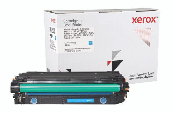 Cyan High Yield Everyday Toner from Xerox, replacement for HP CF361X, Canon CRG-040HC Yields 9,500 pages
