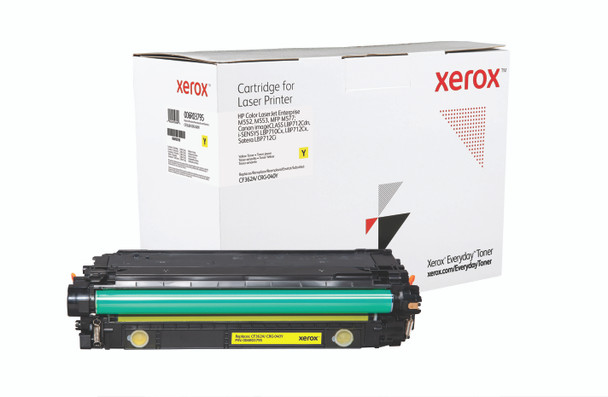 Yellow Standard Yield Everyday Toner from Xerox, replacement for HP CF362A, Canon CRG-040Y Yields 5,000 pages