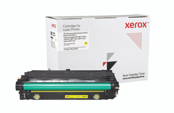 Yellow High Yield Everyday Toner from Xerox, replacement for HP CF362X, Canon CRG-040HY Yields 9,500 pages