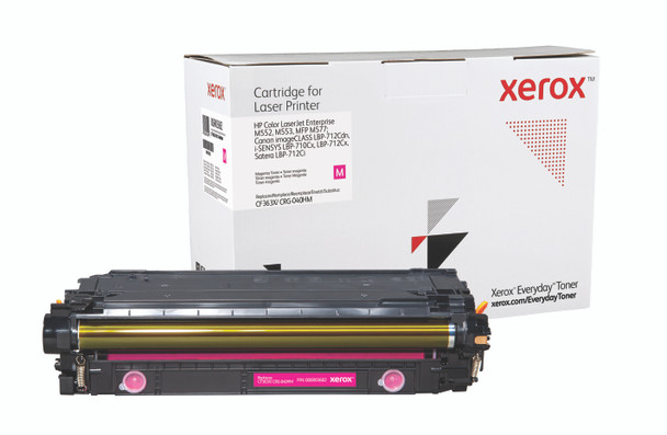 Magenta High Yield Everyday Toner from Xerox, replacement for HP CF363X, Canon CRG-040HM Yields 9,500 pages