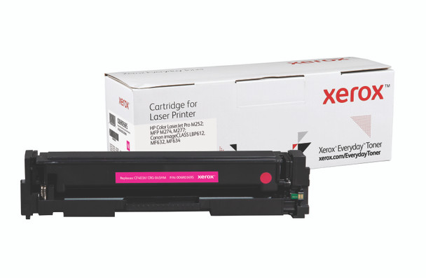 Magenta High Yield Everyday Toner from Xerox, replacement for HP CF403X, Canon CRG-045HM Yields 2,300 pages