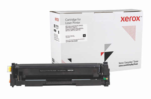 Black Standard Yield Everyday Toner from Xerox, replacement for HP CF410A, Canon CRG-046BK Yields 2,300 pages