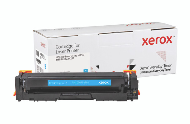 Cyan High Yield Everyday Toner from Xerox, replacement for HP CF501X Yields 2,500 pages