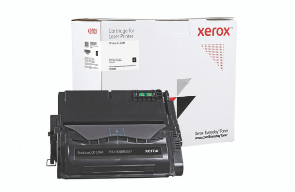 Black Standard Yield Everyday Toner from Xerox, replacement for HP Q1338A Yields 12,000 pages