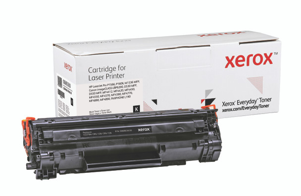 Black Standard Yield Everyday Toner from Xerox, replacement for HP CE278A, Canon CRG-126, CRG-128 Yields 2,100 pages