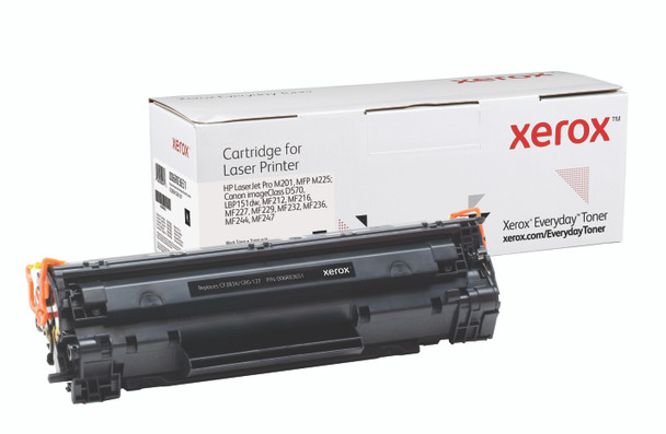 Black High Yield Everyday Toner from Xerox, replacement for HP CF283X, Canon CRG-137 Yields 2,200 pages