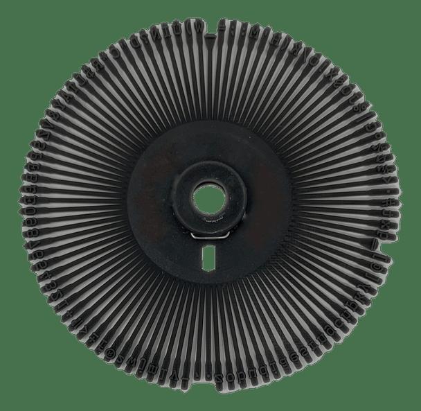 Adler/Royal Caroll OCR 10 International Universal Printwheel by Rarotype