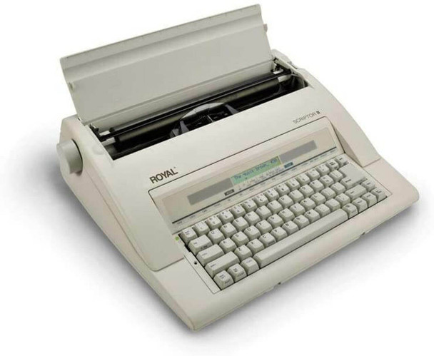Side view of the Royal Scriptor II Personal Portable Electronic Typewriter