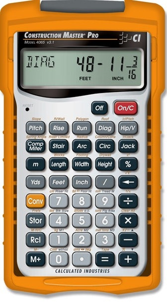 Front face of Calculated Industries Construction Master Pro