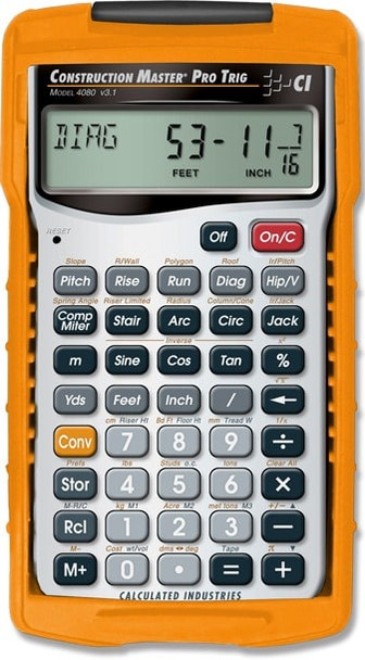 Front face of Calculated Industries Construction Pro Trig calculator