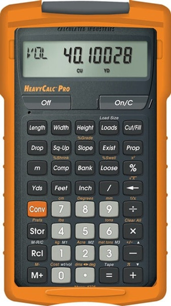 Front face of Calculated Industries HeavyCalc Pro